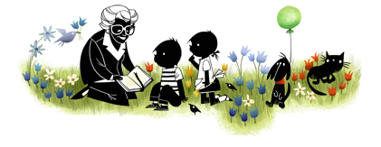 Google Logo: 100th Birthday of Annie MG Schmidt - Dutch children's literature writer
