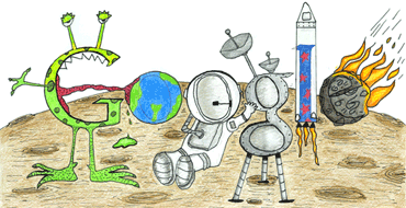 "Google Logo: Doodle4Google 2011 US Winner - ""Space Life"" By Matteo Lopez from California"