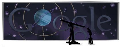 Google Logo: Johann Gottfried Galle's 200th birthday - German Astronomer