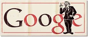 Google Logo: Jean-Paul Sartre 105th birthday