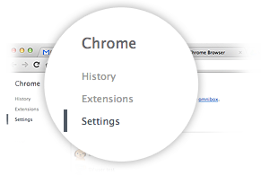 Einstellungen in Chrome