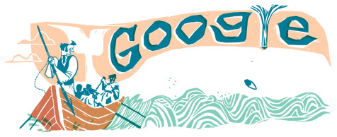Google Doodles, 161. Geburtstag von Moby Dick