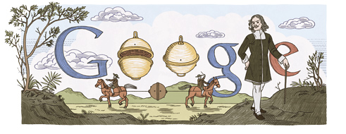 Otto von Guericke - Google Doodle