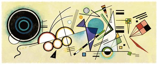 Google-Doodle: 148. Geburtstag von Wassily Kandinsky