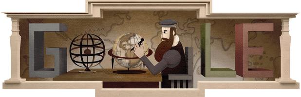 Google-Doodle: 503. Todestag von Gerhard Mercator