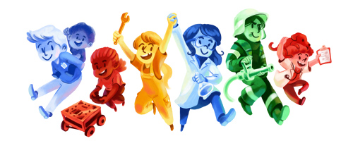 Google-Doodle: girlsday boysday 2016