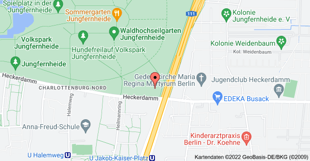 Karte von Heckerdamm 242, 13627 Berlin