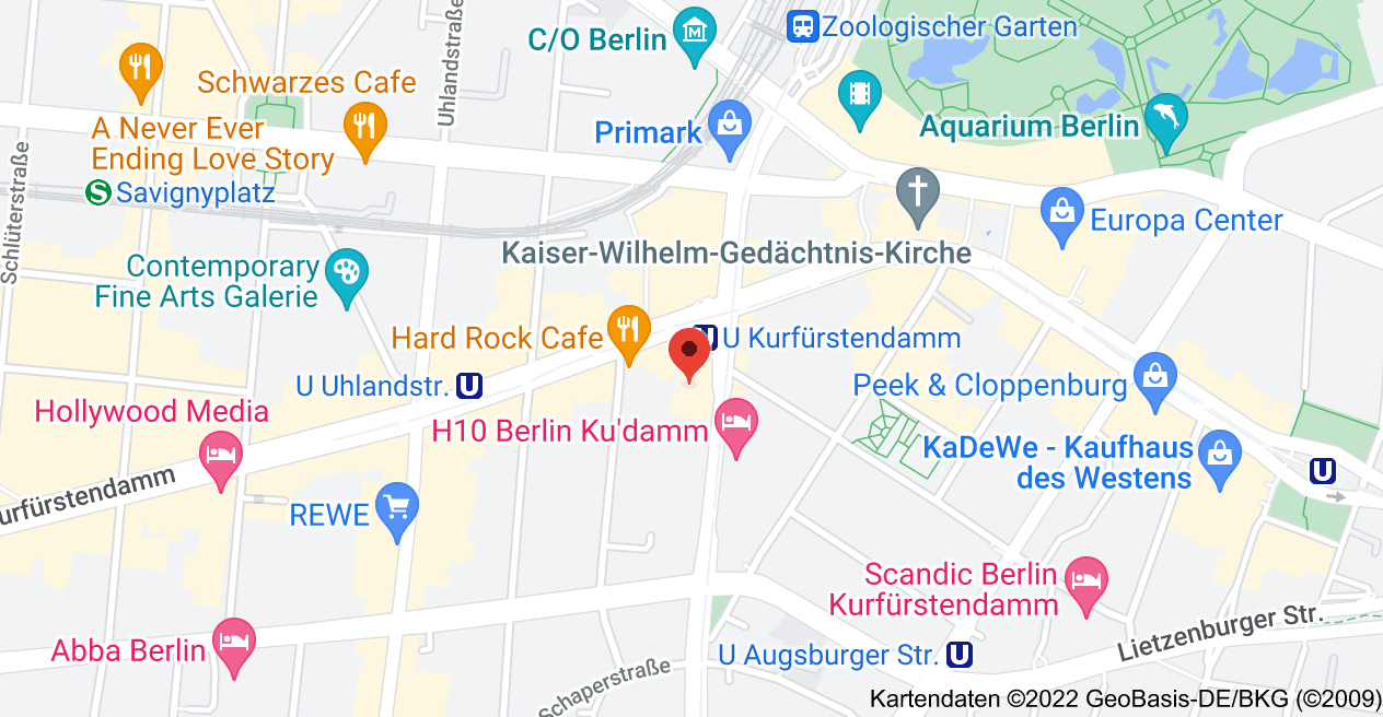 Karte von Joachimsthaler Str. 12, 10719 Berlin
