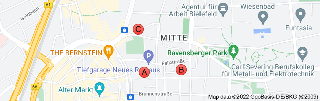 Map of Rathaus Bielefeld