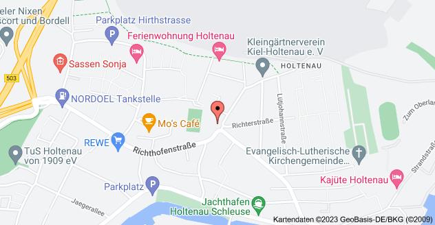 Karte von Richthofenstraße 14, 24159 Kiel