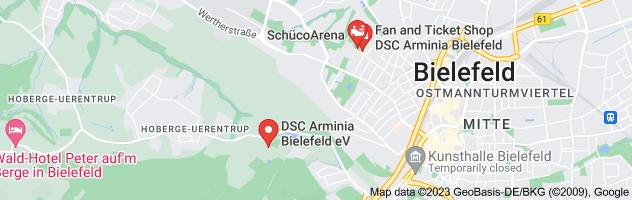 Map of Arminia Bielefeld