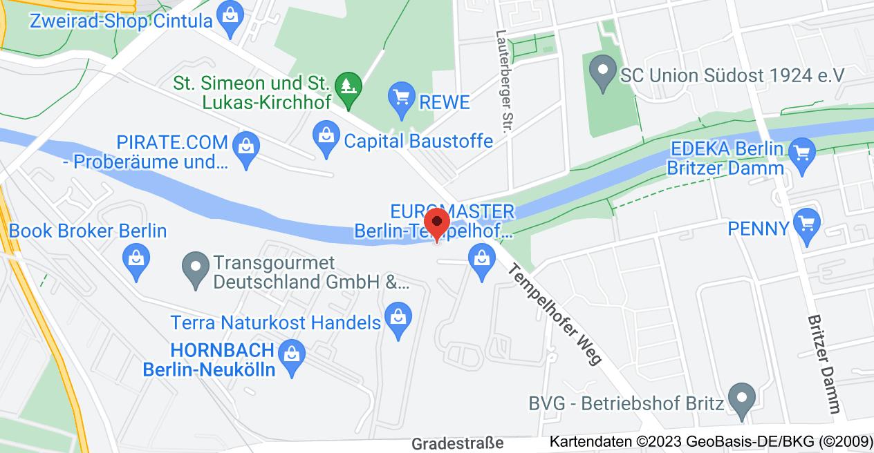 Karte von Tempelhofer Weg 34, 12347 Berlin