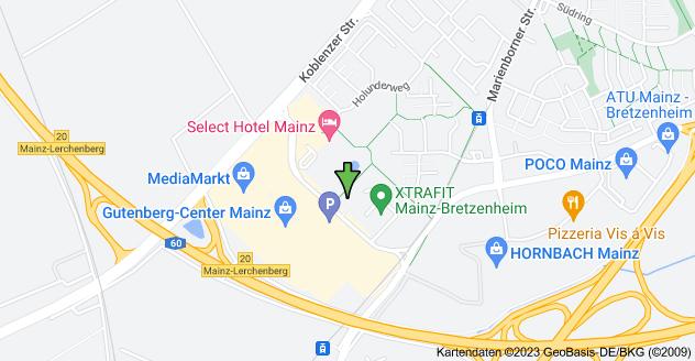 Karte von Haifa-Allee 20, 55128 Mainz