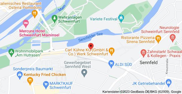 Karte von Schweinfurter Str. 3, 97526 Sennfeld