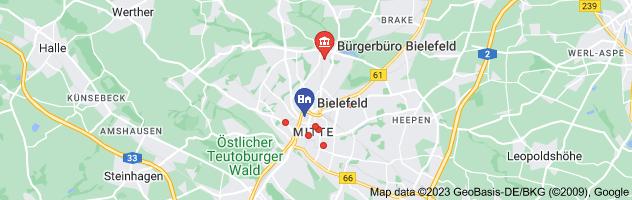 Map of Gesundheitsamt Bielefeld