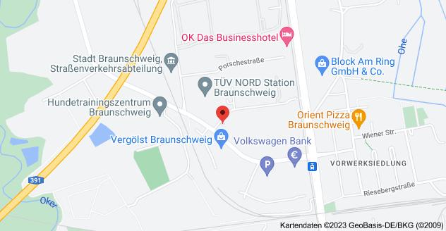 Karte von Schmalbachstraße 8, 38112 Braunschweig