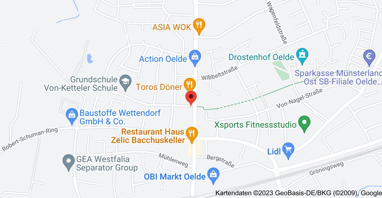 Karte von Warendorfer Str. 61, 59302 Oelde
