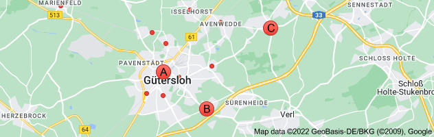 Map of Sparkasse Gütersloh
