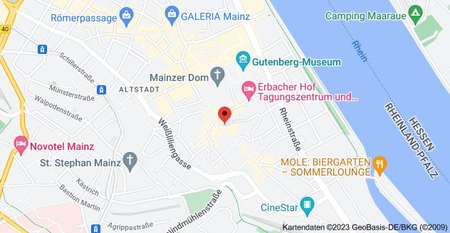 Karte von Augustinerstraße 46-48, 55116 Mainz