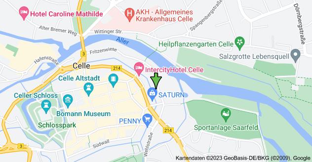 Karte von Fritzenwiese 46, 29221 Celle