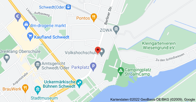 Map of Berliner Str. 52, 16303 Schwedt/Oder