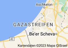 Karte von Gazastreifen