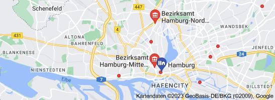 Karte von Standesamt Hamburg