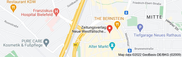 Map of Demo in Bielefeld